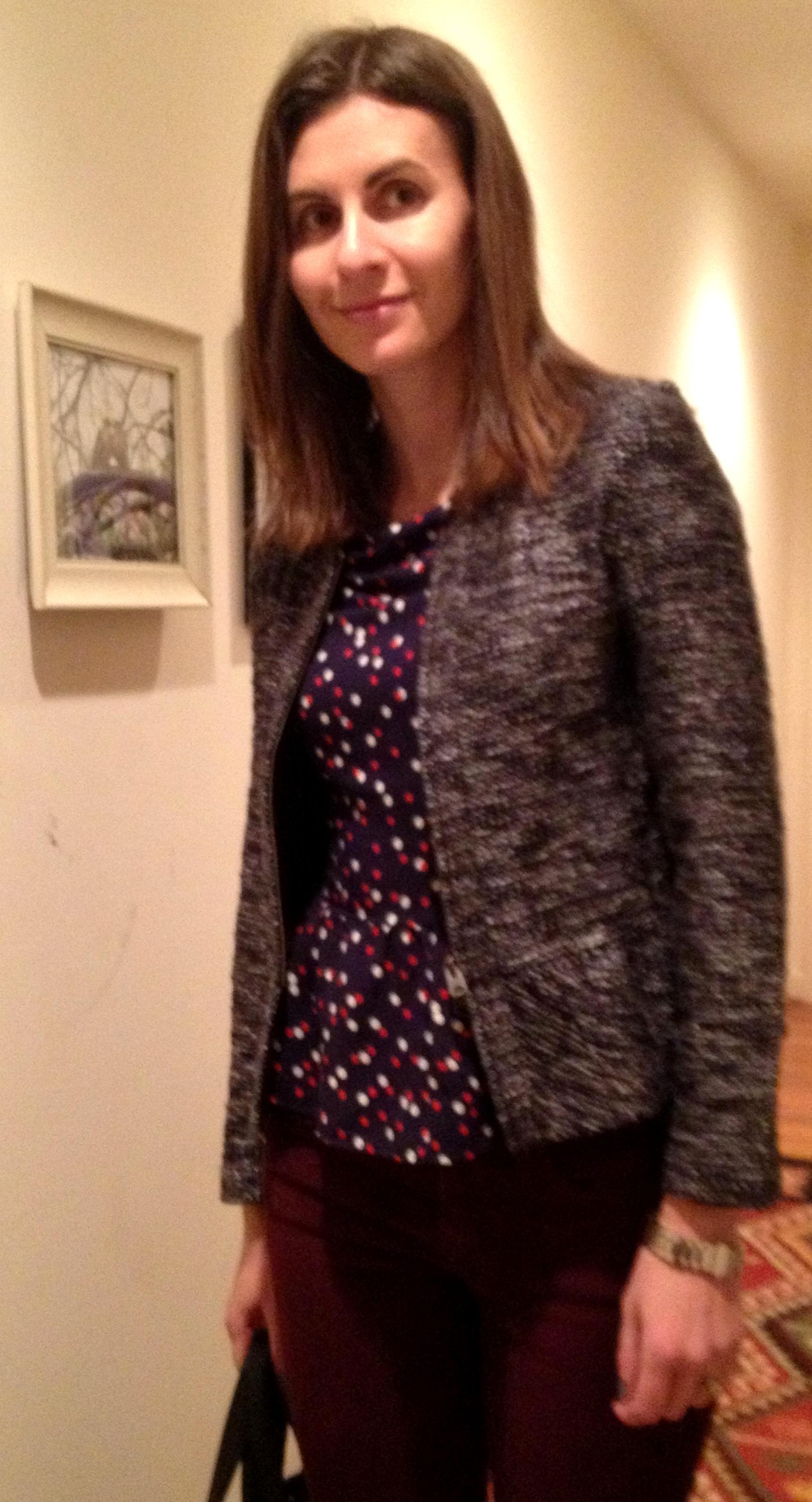 Peplum Tweed Jacket